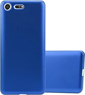 Cadorabo Case works with Sony Xperia XZ Premium in METALLIC BLUE - Shockproof and Scratch Resistant TPU Silicone Cover - U...