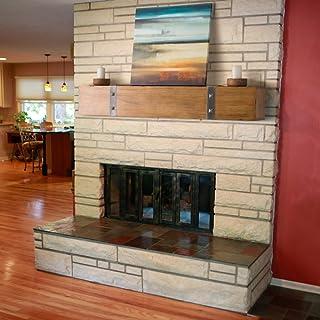 Belham Living Rustic Timber Beam Fireplace Mantel