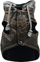 Hip Doggie Vintage Bomber Jacket w/Removable Fleece Hood