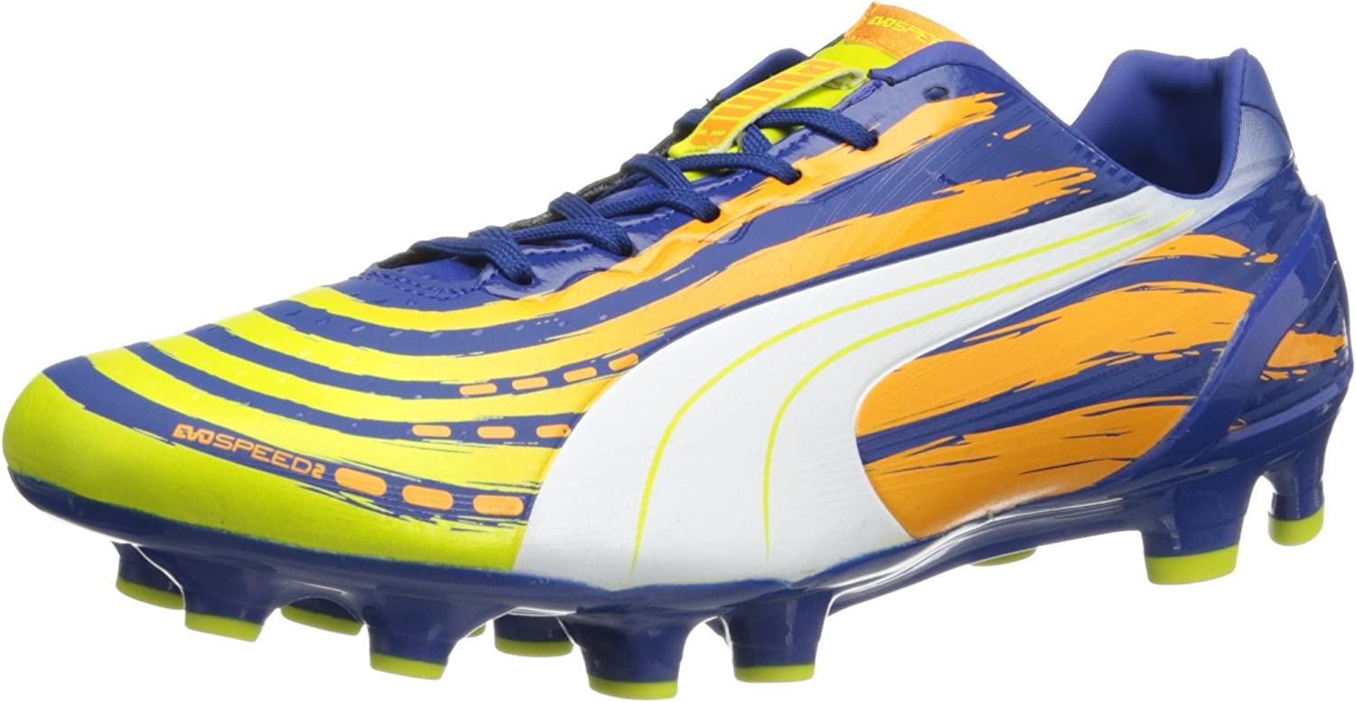 PUMA Men's Popular standard Outlet sale feature evoSPEED 2.2 Soccer Firm Cleat Graphic