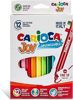 Carioca Super Washable Fine Nib Color Markers - Set Of 12