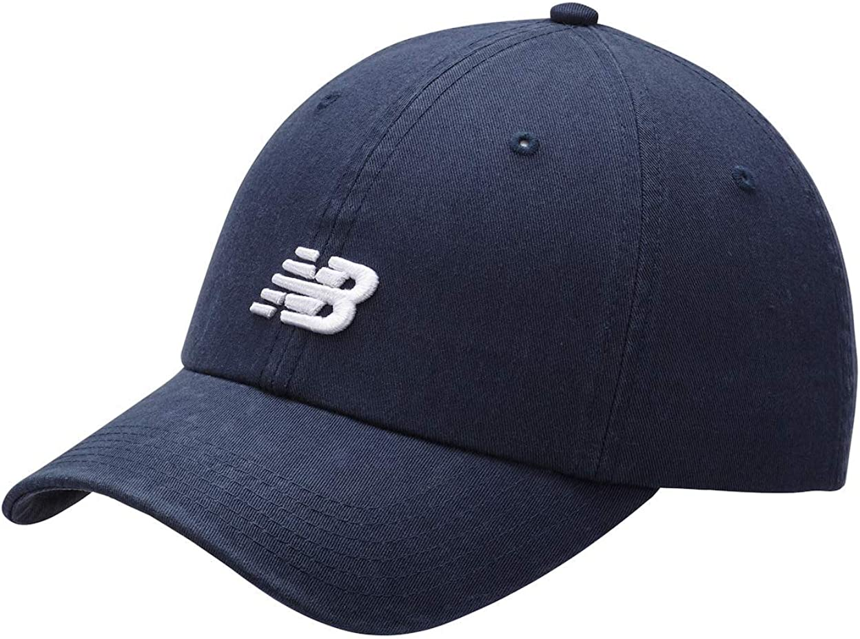 New Balance Men's and Women's 6-Panel Curved Brim Hat, Adjustable Cotton Twill Cap