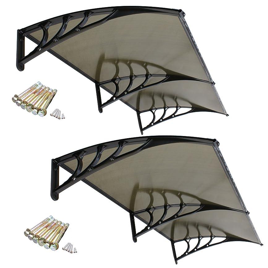 飛行場ご飯リボンsmartxchoices PCポリカーボネートデッキオーニング窓サンシェードシェルターキャノピーforウィンドウドア6.5?' × 3.2?' SC1094&H01-1240