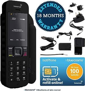 BlueCosmo Inmarsat IsatPhone 2.1 Satellite Phone Kit & 100 Unit Prepaid SIM (90 Days) - Global Coverage - Voice, SMS, GPS Tracking, Emergency SOS