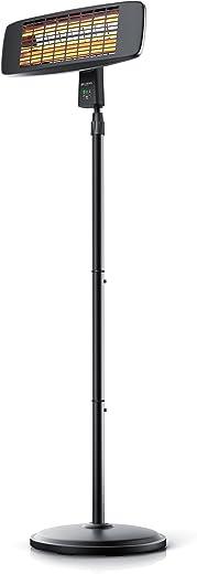 Brandson – Heizstrahler mit Fernbedienung – Wärmelampe Terrassenheizstrahler – 3 Leistungsstufen Heizelemente – Inkl. Fernbedienung – LED…
