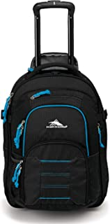 High Sierra Ultimate Access 2.0 Carry-on Wheeled Backpack, Black/Blue Print