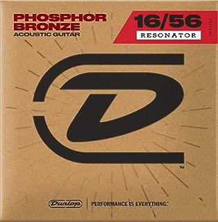 Dunlop DOP1656 Resonator Strings, Phosphor Bronze, Medium, .016–.056, 6 Strings/Set