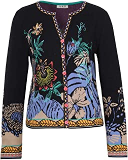 IVKO Jacquard Cardigan with Embroidery 191724 (Black)