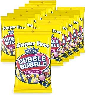 Dubble Bubble Sugar Free 3.25 oz Bags, 12Count