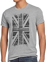 style3 Vintage Union Jack Pabellón Camiseta para Hombre T-Shirt