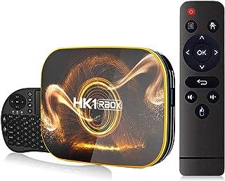 Android 10.0 TV Box 【4GB RAM 32GB ROM】 HK1 Ultra HD 4K Smart TV Box RK3318 Quad Core 64-bit with Wireles Mini Keyboard Dua...