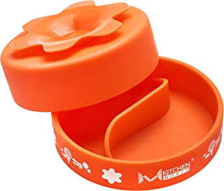 M KITCHEN WORLD Baby Bowl & Divided Plate with Stay Put Extra Suction - Orange