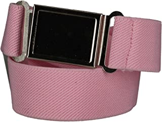 CTM Kids' Elastic 1 Inch Adjustable Belt with Magnetic Buckle