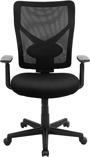 SONGMICS Bürostuhl, Schreibtischstuhl, ergonomischer Drehstuhl, verstellbare Armlehnen, Wippfunktion, atmungsaktiver Netzstoff, Belastbarkeit 120…