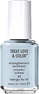essie Treat Love & Color Nail Polish For Normal to Dry/Brittle Nails, Indi-Go For It, 0.46 fl. oz.