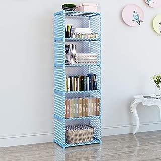 EunSung Simple Bookcase - Storage Storage Book Media CD, DVD Folder CD 5 Lattice (Blue)