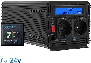 comprar comparacion Inversor electrico de 2000 4000w convertidor de voltaje de 24v a 230v transformador de corriente de onda sinusoidal modifi...