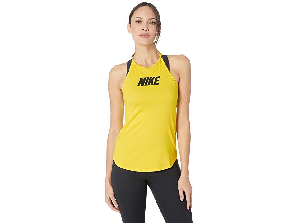 Nike Training Elastika Sport Distort Graphic Tank (Opti Yellow/Black) Women
