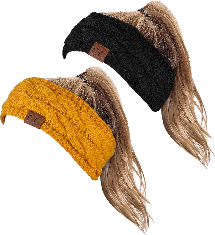 HW-6033-2-20a-0672 Headwrap Bundle - Black & Mustard (2 Pack)