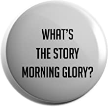 Hippowarehouse What's the story morning glory? Badge Pin