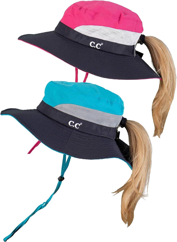 Elegant Funky Junque Ponytail Popular shop is the lowest price challenge Bucket Hat UPF Bun Sun 50+ Messy Wide