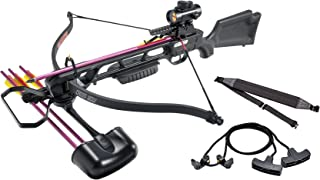 Leader Accessories Crossbow Package 160lbs 210fps Archery Equipment Hunting Bow with Quiver and 4pcs of Aluminum Arrow