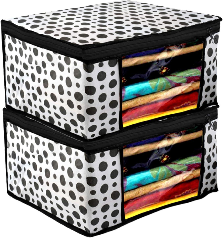 Kuber Industries Polka Dots 正規認証品 新規格 Design 2 海外 Woven Non Fabric Sare Piece