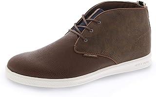 Jack & Jones Alain Tan High Top Boots 9 Tan Leather 43 EU