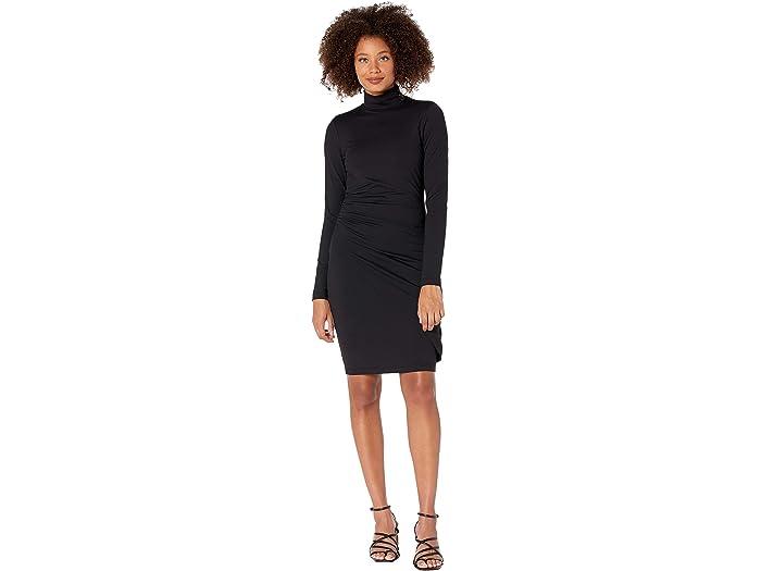 Susana Monaco Womens Long Sleeve Turtleneck Mini Dress