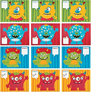 Kicko Make a Monster Sticker - Set of 12 Silly Creature Stickers Scene for Birthday Treat, Goody Bags, School Activity, Group Projects, Room Decor, Arts and Crafts