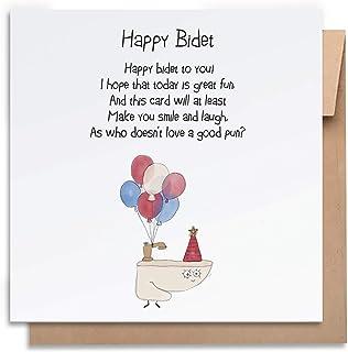 Birthday Card-Happy Bidet-with Envelope, Birthday Card Funny Birthday Card Humorous Birthday Card for Him Birthday Card fo...