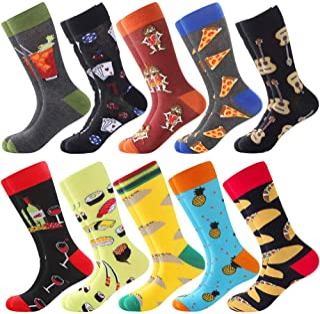 BONANGEL Calcetines Estampados Hombre, Hombres Ocasionales Calcetines Divertidos Impresos de Algodón de Pintura Famosa de Arte Calcetines, Calcetines de Colores de moda