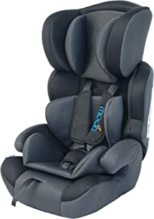 MOON Tolo Comfortable Toddler/Child Car seat, Group 1,2,3 convertible, 9 month upto 12 Years of Use  9 to 36 KG, Black and...