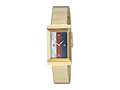 Gucci G-Frame Watch (Gold/Green/Red) Watches