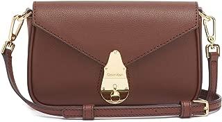 Calvin Klein Lock Daytona Leather Statement Crossbody