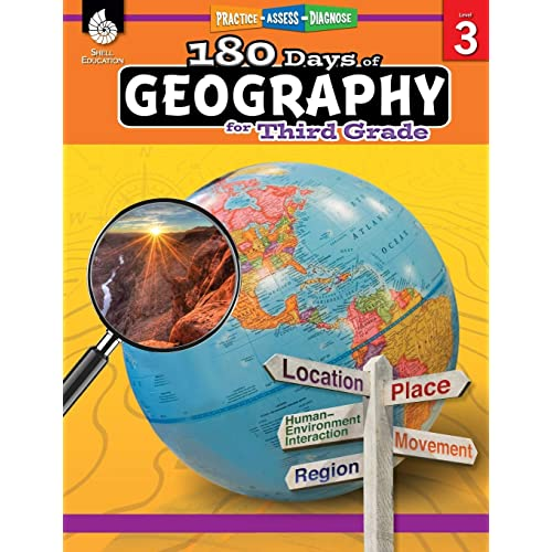 180 Days of Social Studies: Grade 3 - Daily Geography Workbook for Classroom and Home, Cool and Fun Practice, Elementary School Level Activities ... to Build Skills (180 Days of Practice)