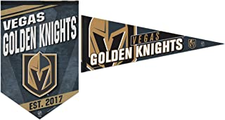 WinCraft Bundle 2 Items: NHL Las Vegas Golden Knights 1 Premium Felt Banner 17