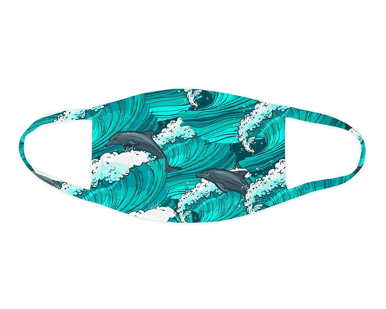 5 ☆ very popular Dolphins 67% OFF of fixed price Waves Face Mask Washable Covering