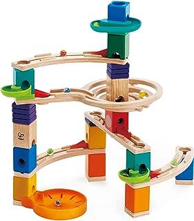 Hape Quadrilla Cliffhanger Wooden Marble Run   Marble Maze Run Set, Early Educational STEM Development Building Toys for Kids, Multicolor