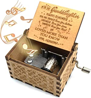 ukebobo Wooden Music Box – You are My Sunshine Music Box, from Grandma to Granddaughter, Gifts for Kids - 1 Set