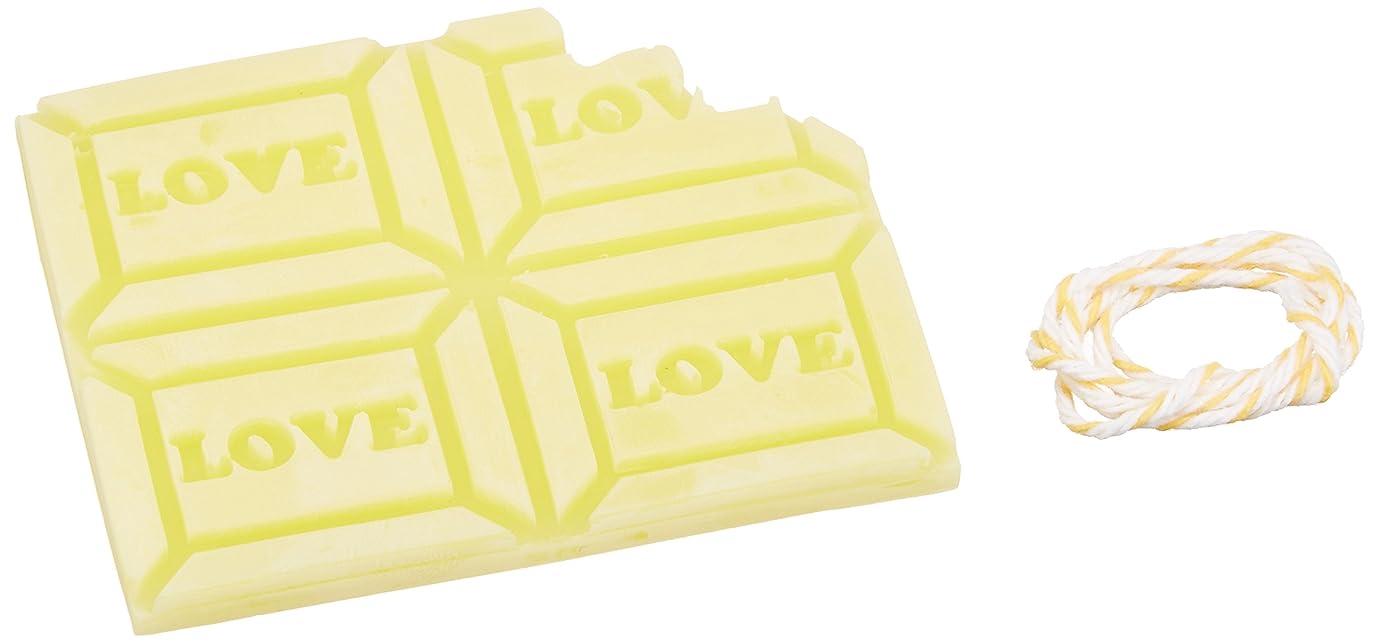 雑種ひばりこれらGRASSE TOKYO AROMATICWAXチャーム「板チョコ(LOVE)」(YE) ベルガモット アロマティックワックス グラーストウキョウ