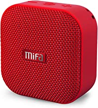 MIFA Portable Bluetooth Speaker, A1 True Wireless Stereo Speaker V4.2, IP56 Dustproof & Waterproof Fabric Design, 12-Hour Playtime, Big HD Sound & Enhanced Bass, Micro SD Card Slot, Built-in Mic, Red