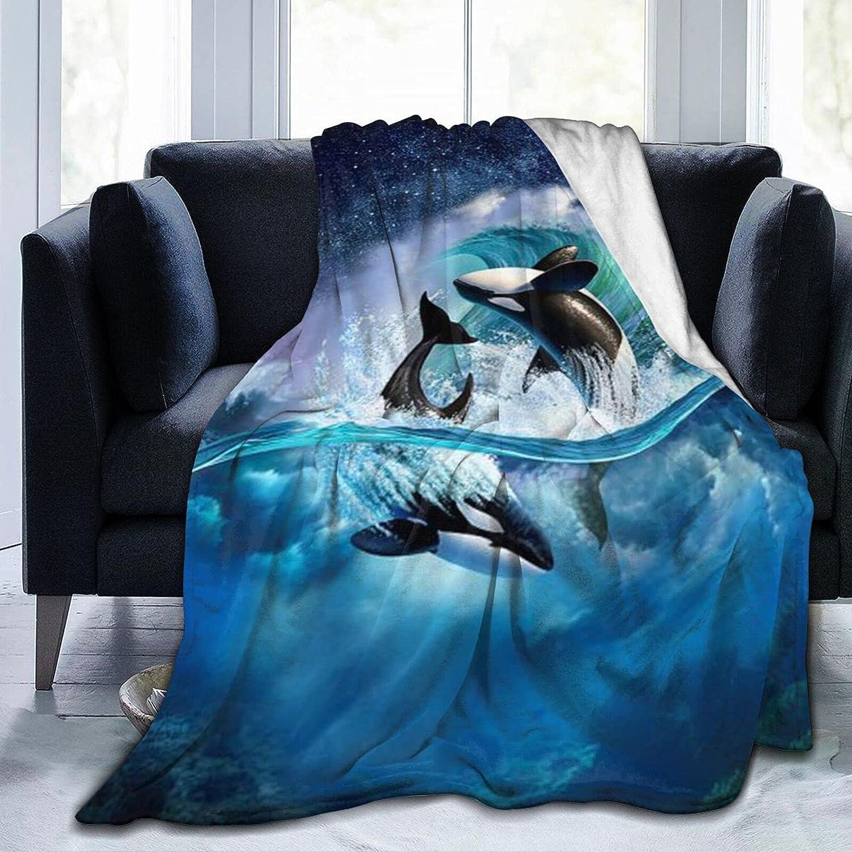 Behergy Orca free shipping Wave Fleece Throw Lightweig Size Blankets Soft Max 87% OFF Full