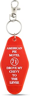 American Pie Motel Keychain - 🎶 Drove My Chevy To The Levee 🎶