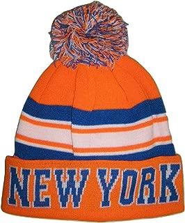 City Hunter New York USA Striped Men's Winter Hats