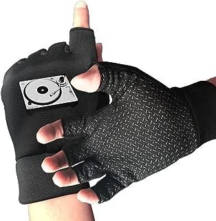 Address Verb Bike Half Finger Gloves Tie Dye Weed Marijuana Green Leaf Mens Womens Anti-Slip Shockproof Foam Padded Gel Pad Gym Boxing Sports Gloves