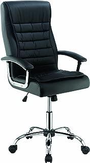 Scott Living 可调节高度办公椅黑色和镀铬