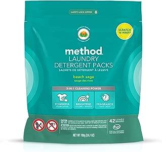 Method Laundry Detergent Packs, Beach Sage, 42 Loads