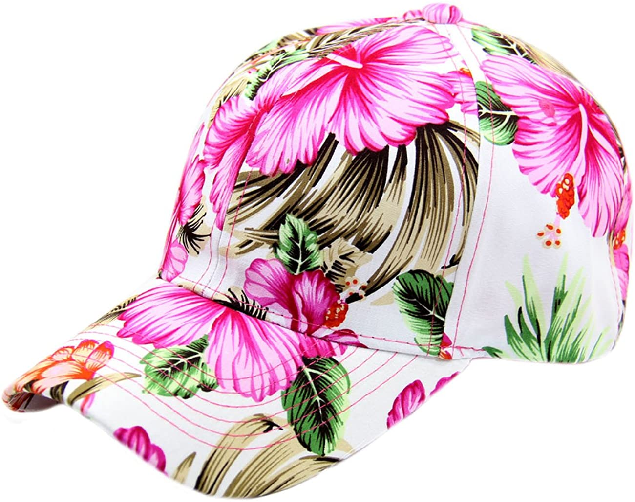 Floral Hawaiian Adjustable Snapback Hats Baseball Caps