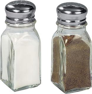 Fackelmann Salero y Pimentero. Cristal y acero inox.
